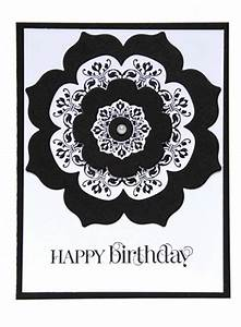 Black And White Cards Black And White Designer Birthday Card Embellished With