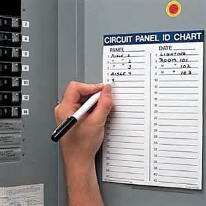 Quote Sheets Templates Circuit Panel Id Chart Kit Circuit Breaker Seton