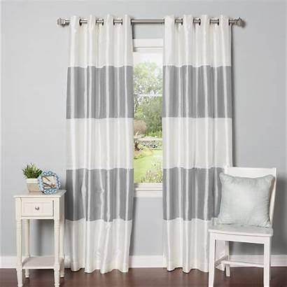 Striped Curtain Panels Blackout Grommet Wayfair Thermal
