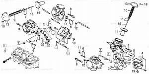 Honda Motorcycle 1983 Oem Parts Diagram For Carburetor
