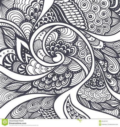 abstract pattern  zen tangle zen doodle style black