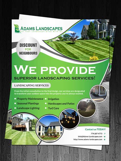 landscaping flyer professional bold landscaping flyer design for landscapes llc by debdesign design