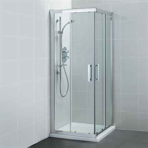 walk in shower designs for small bathrooms ideal standard synergy corner entry shower enclosure 900mm