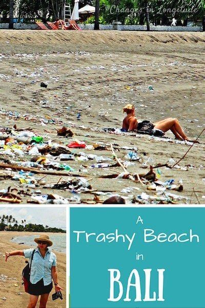 trash season  kuta beach  bali