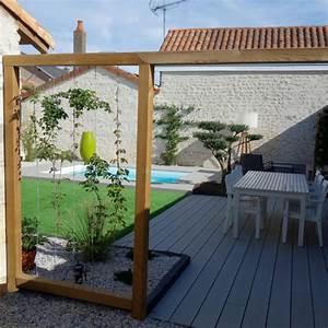 amenagement d39un jardin avec terrasse bois et gazon With superior amenagement de terrasse exterieur 7 deco salon moderne