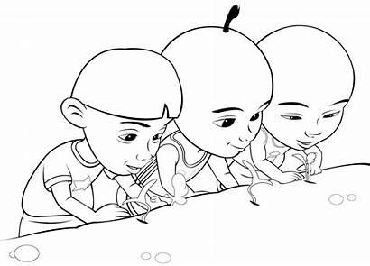 Mewarnai Gambar Anak Untuk Upin Ipin Mewarna
