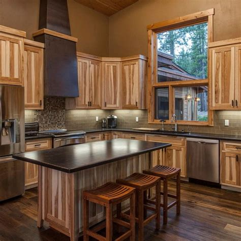 hickory cabinets with dark wood floors google search