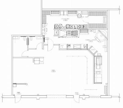 Kitchen Restaurant Pizza Square Foot Layout Concept