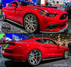 2011 mustang gt supercharger kit sema 2014 2015 supercharged mustang with 24x15 wheels in
