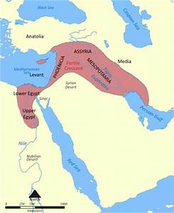 The Fertile Crescent at maximum defined extent, with the ...