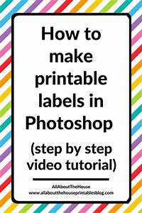 how to make printable storage contents labels in photoshop With easiest way to print labels