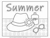 Coloring Hat Sunscreen Sunglasses Planerium sketch template