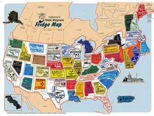 United States Map Magnet Board