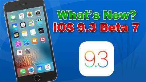 iOS 9.3 Beta 7: What's New - YouTube