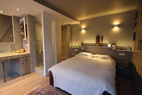 chambre parentale avec dressing et salle de bain suite parentale avec salle de bain ouverte suite