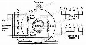 220 Volt Single Phase Capacitor Start Motor Wiring Diagram