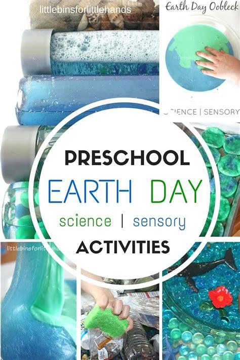 preschool earth day activities science  sensory play