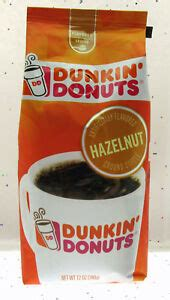 Coffee, natural and artificial flavor. Dunkin' Donuts Coffee ~ Hazelnut ~ Ground ~ 11oz Bag   eBay