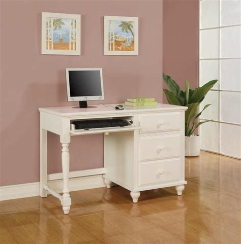 white wooden childrens desk dominique white table desk with 2 drawers modern kids