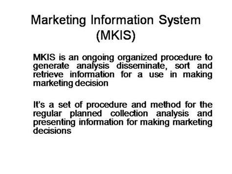 marketing information marketing information system authorstream