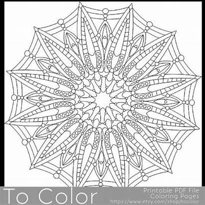 Gel Pens Coloring Pages Drawing Pen Printable