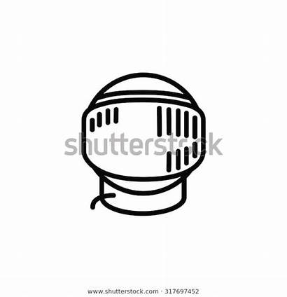 Space Helmet Shutterstock Outline Icon Outlined Reflections