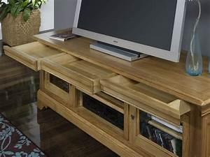 Meuble Tv En Chene : meuble tv 16 9 me en ch ne massif de style louis philippe meuble en ch ne ~ Teatrodelosmanantiales.com Idées de Décoration