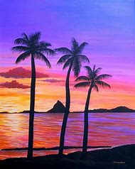 Hawaiian Sunset Paintings