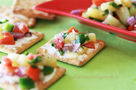 pineapple salsa canapes whats cooking