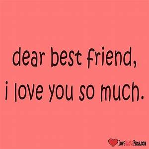 I Love You Bestfriend Quotes - QUOTES INSPIRATIONS OF LIFE