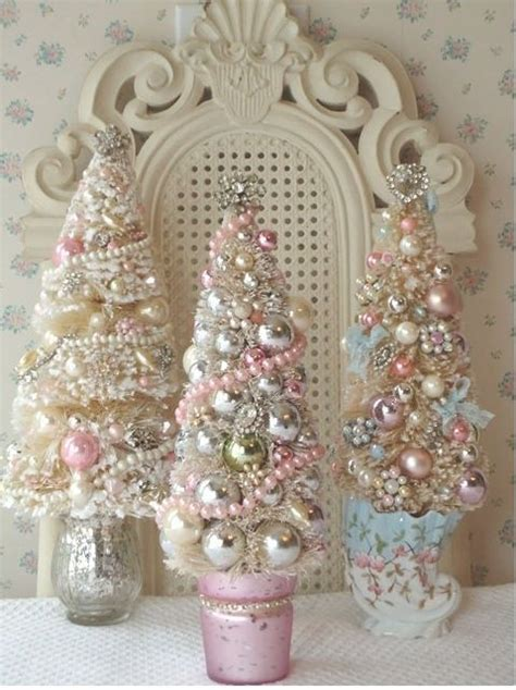 shabby chic christmas trees shabby chic mini christmas trees trees pictures photos and images for facebook tumblr