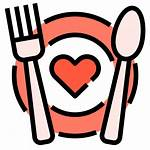 Romantic Dinner Icons Romance