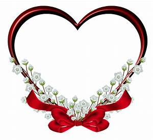 Transparent, Red, Heart, Frame, Decor, Png, Clipart
