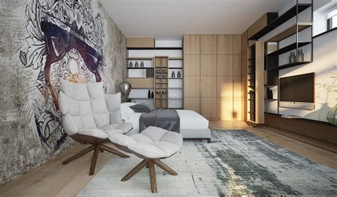 Artistic Bedroom Ideas by 3 Luxury Homes Taking Different Approaches To Wall