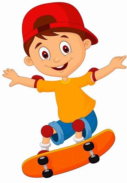 Clipart Boy Skateboard Clip Skateboarding Skate Soccer