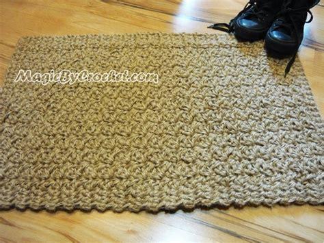 crochet doormat doormat jute crochet rug floor mat door mat handmade