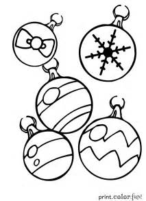 christmas ornaments coloring page print color fun