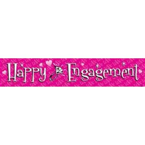 Flag Banner Happy Engagement banner happy engagement banners signs