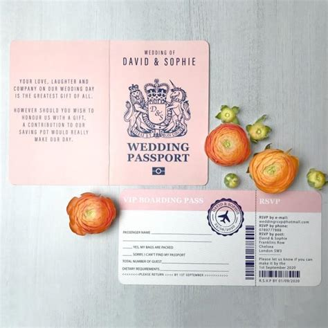 boarding pass wedding invitation passport wedding