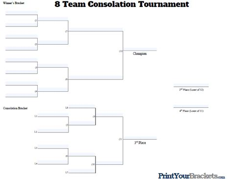 fillable  team consolation bracket