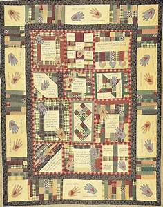 Quilt Pattern Heart And Hand With Primitive Inspirational