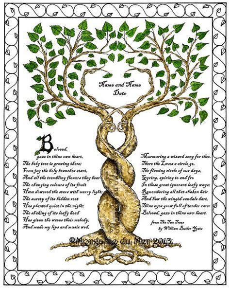trees entwined  poem  custom personalized wedding