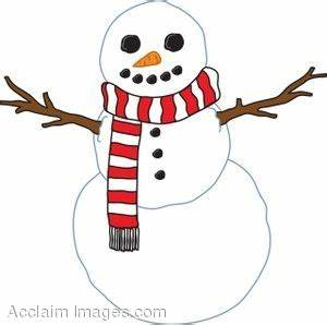 Image Gallery snowman scarf
