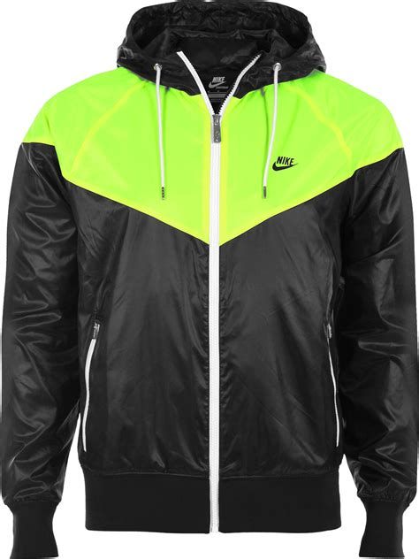 nike windrunner jacket black neon yellow