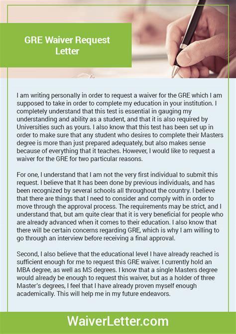 gre waiver letter waiver letter