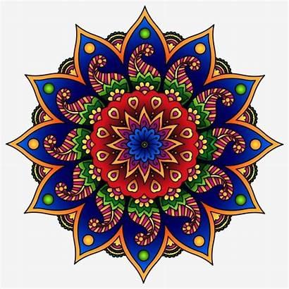 Rangoli Mandala Diwali Colorful Happy Svg Clip