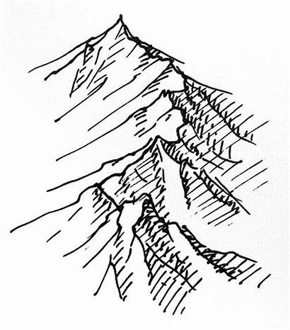 Mountain Drawing Ink Pen Quick Mountains Fantasy