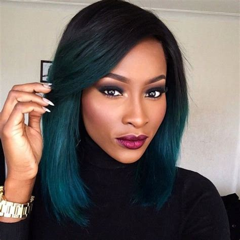 Black Hair Any Colour by Blue Green Hair Colours To Suit Any Skin Undertone