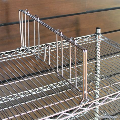 wire shelf dividers wire shelving divider 18 quot shelf divider