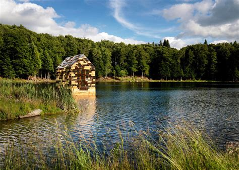 thoreaus famous walden cabin reinvented   floating cottage